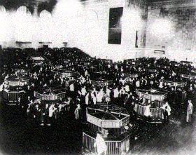 Główna hala Giełdy Nowojorskiej po krachu 1929 r.