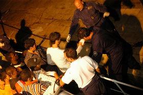 Imigranci z Afryki Północnej na włoskiej wyspie Lamepedusa (CC BY  noborder network)