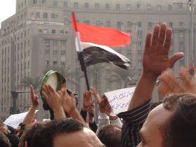 Protesty na placu Tarhir w Kairze (CC BY Kodak Agfa)