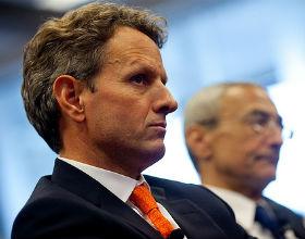 Timothy Geithner, sekretarz skarbu USA (CC BY-ND Center for American Progress)