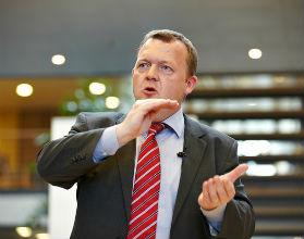 Rząd Danii, na czele z Larsem Løkke Rasmussenem, uznał, że kłopotami banków pora zacząć obciążać nie tylko podatnika. (CC BY-NC-ND larsloekke)