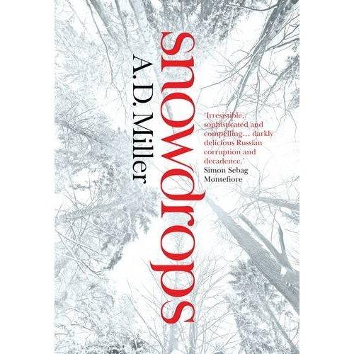 Tytuł: Snowdrops, Autor: A.D. Miller, Wydawca: Doubleday; Tytuł polski: Przebiśniegi, Wydawca: Świat Książki