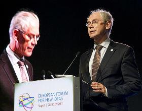 Herman van Rompuy, prezydent UE, chciał podniesienia kar za przekroczenie 3 proc. deficytu, ale mimo powszechnych nawoływań do dyscypliny fiskalnej, takie prawo się nie pojawiło. (CC BY-NC-ND President of the European Council)