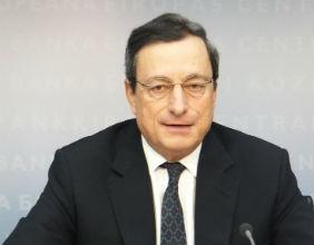Mario Draghi, prezes EBC. (Fot. Katarzyna Mokrzycka)