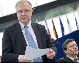 Olli Rehn, odpowiedzialny w Komisji Europejskiej za sprawy gospodarcze i finansowe.   (CC BY-NC-ND European Parliament)