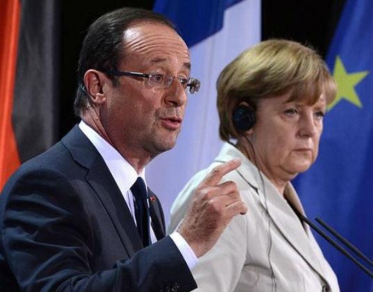 Francois Hollande i Angela Merkel (CC By-NC sagabardon)
