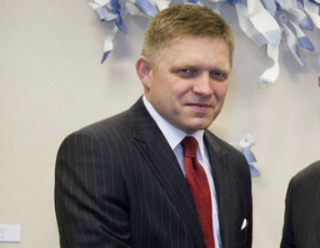 Robert Fico, premier Słowacji (CC By-NC-ND President of the European Council)