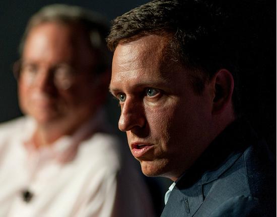 Peter Thiel, - miliarder, współtwórca serwisu PayPal.com, pierwszy zewnętrzny inwestor Facebooka, gdy ten był jeszcze startupem. (CC BY-ND Fortune Live Media)