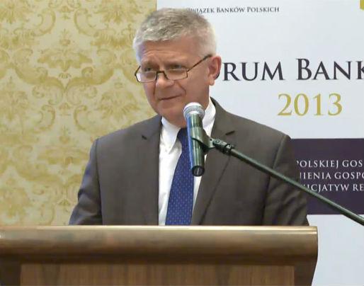 Marek Belka, prezes NBP, podczas Forum Bankowego 2013 (fot. ZBP)
