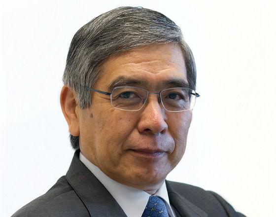 Haruhiko Kuroda, prezes banku centralnego Japonii.  (CC By SA Asian Development Bank)
