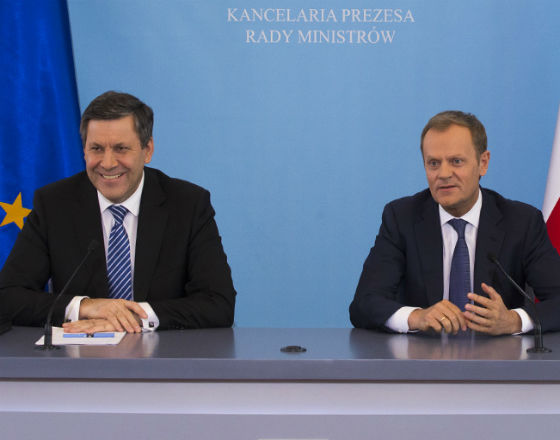 Wicepremier Janusz Piechociński i premier Donald Tusk (CC By NC ND Kancelaria Premiera)