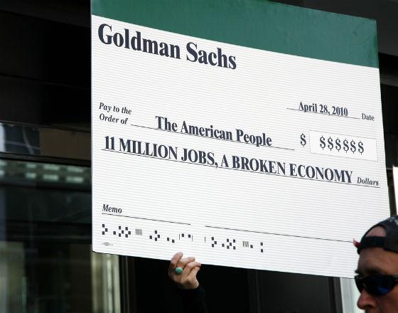 Protest przed siedzibą Goldman Sachs (CC By NC SA Carrie Sloan)