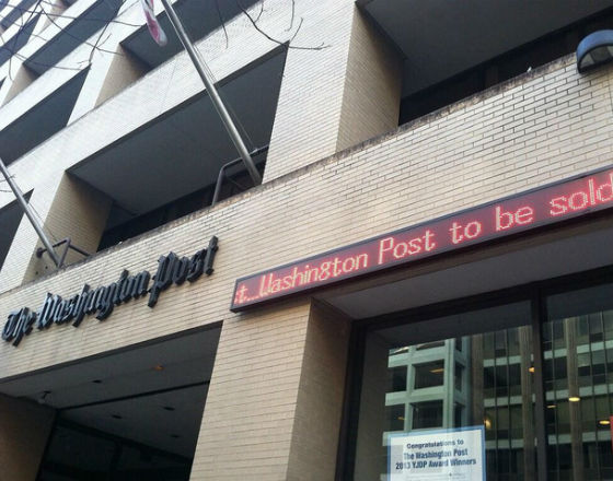Washington Post został kupiony przez Jeffa Bezosa, właściciela Amazonu (CC BY Adam Glanzman)