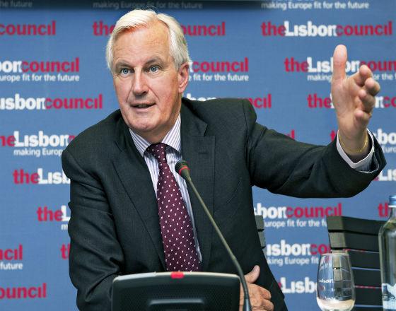 Michel Barnier, komisarz ds rynków międzynarodowych i usług. (CC By NC ND  lisboncouncil)