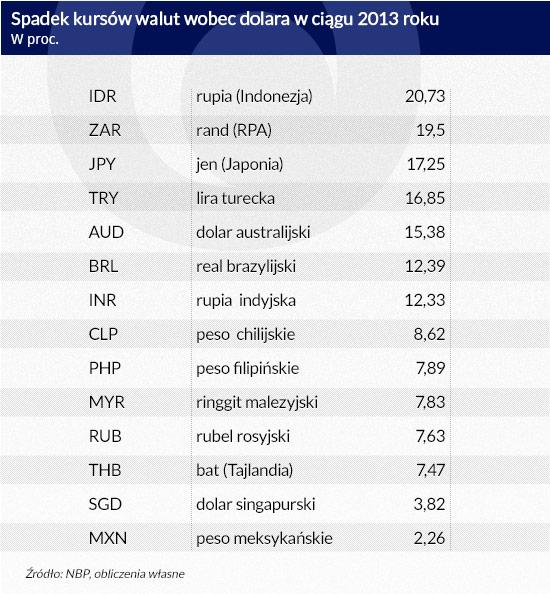Spadek-kursów-walut-wobec-dolara-w-ciągu-2013-roku