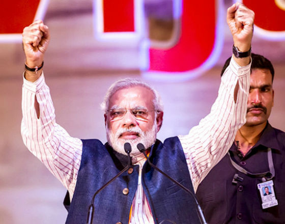 Narenda Modi, przyszły premier Indii (CC BY-SA narendamodiofficial)