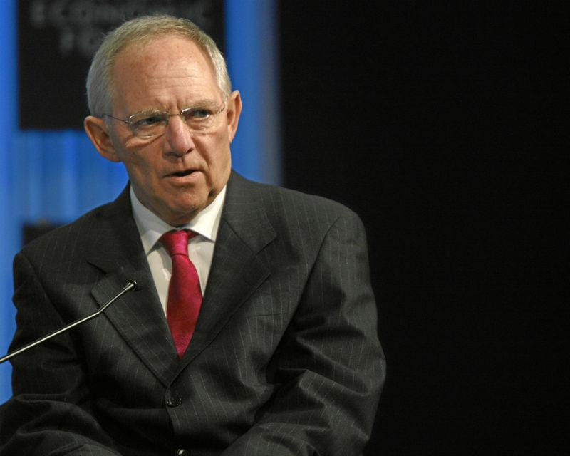 Wolfgang Schäuble zapowiedział, że banki zbyt wielkie by upaść otrzymają ulgę podatkową, jeśli będą potrzebować kapitału. (CC BY NC SA WEF)