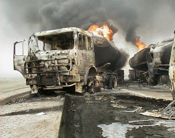 Zderzenie cystern w Iraku. (CC BY-NC-ND by s1lang)