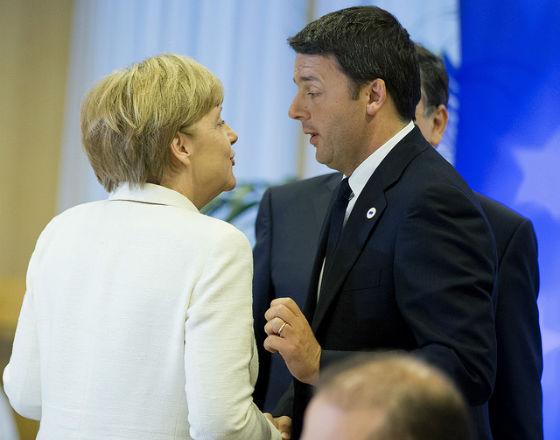 Angela Merkel, Matteo Renzi (CC BY Palazzo Chigi)