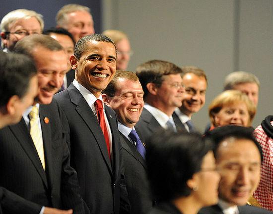 Liderzy zgromadzeni na szczycie G20 w 2009 r. (CC BY-NC-ND Downing Street)