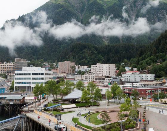 Juneau, stolica stanu Alaska (CC BY-SA Alan Wu)