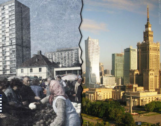 Warsaw yesterday and today (pics.: PAP/ CC By Sabon NYC)