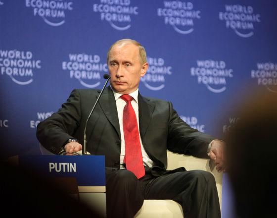 Putin w Davos w 2009 r. W tym roku raczej nikt go nie zaprosił. (CC By NC SA WEF)