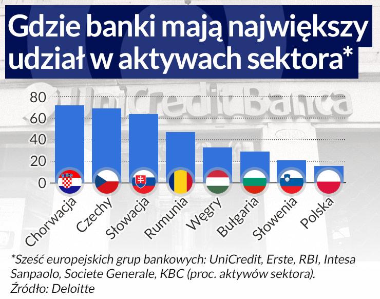 Europę Środkową czeka wyprzedaż banków