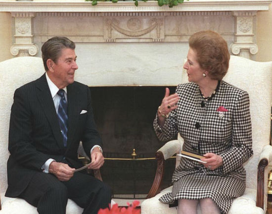 Ronald Reagan i Margaret Thatcher (CC BY UKBERRI.NET)
