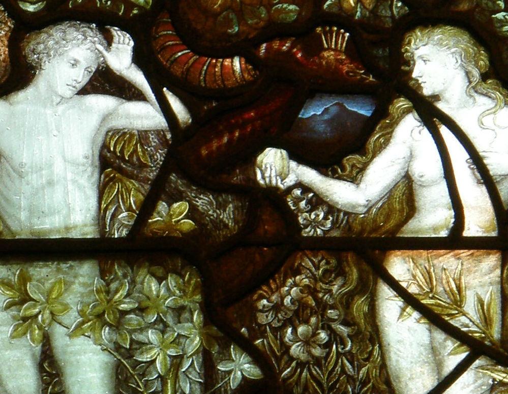 Witraż Charlesa Eamera Kempe w kościele w Eastham w Wielkiej Brytanii. (CC By ND Sue Hasker)