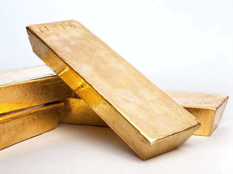 Sztaba złota z zasobów NBP. (Fot. OF/KM)