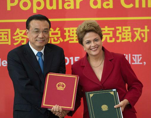 Premier Chin Li Keqiang i prezydent Brazylii Dilma Rousseff (CC BY-NC Deputado Federal Vicente Cândido)