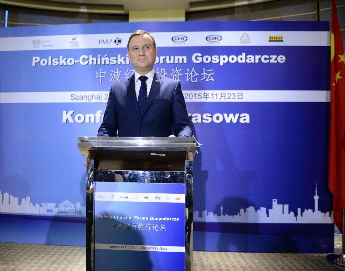Prezydent Andrzej Duda w Chinach. (Fot. PAP)