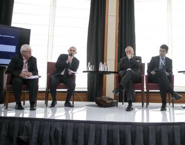 Jerzy Hausner, Andrzej Zwara, Dariusz Filar i Marek Rozkrut na EKF2016. (Fot. EKF/Maciej Moskwa)