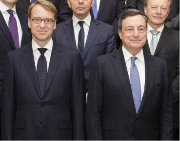 Mario Draghi, prezes EBC (po prawej) i jego potencjalny następca Jens Weidmann (Fot. CC BY-NC-ND European Central Bank)