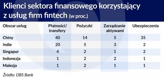 Klienci sektora finansowego korzystajacy zuslyg fintech