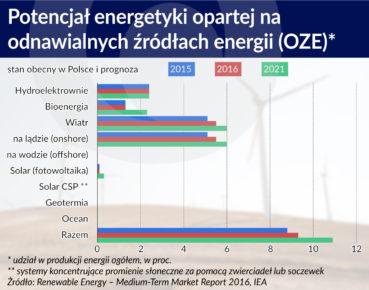 Wykres. Potencjal OZE