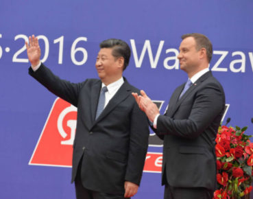 Prezydenci Xi Jinping i Andrzej Duda na dworcu w Łodzi odebrali bezpośredni pociąg cargo Polska - Chiny (fot. PAP)