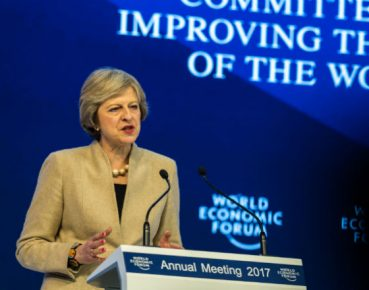 Theresa May (CC BY-NC-SA 2.0 World Economic Forum Mattias Nutt)