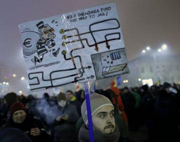Rumunia korupcja protest fot. PAP