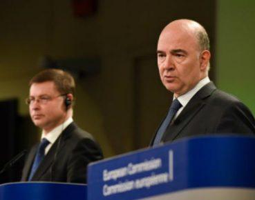Valdis Dombrovskis i Pierre Moscovici (© European Union , 2017, EC - Audiovisual Service, Photo Jennifer Jacquemart)