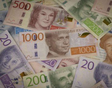 korony szwedzkie CC Riksbank