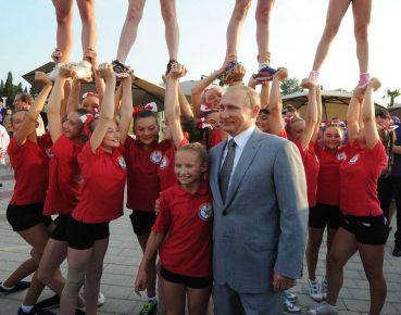 Putin i dzieci Fot PAP