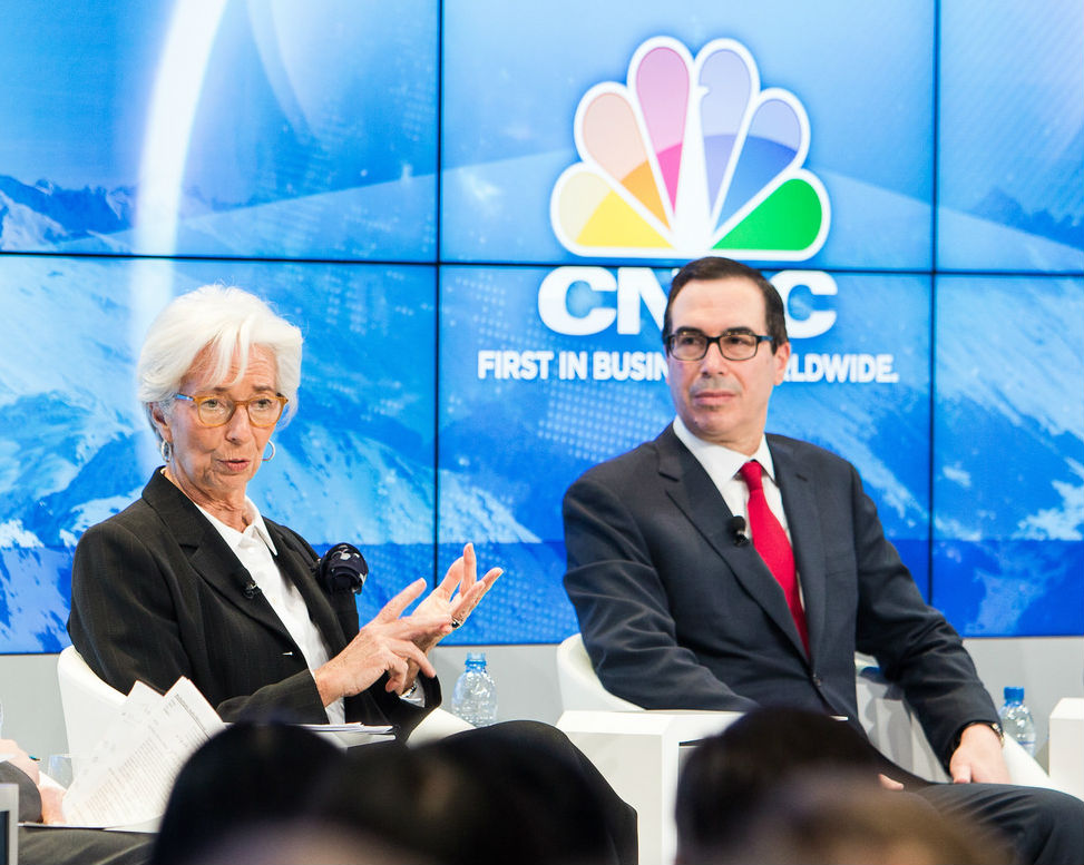 Lagarde Mnuchin Davos 2018 CC BZ NC SA WEF