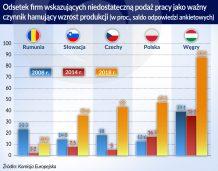 Brak pracowników to zagrożenie dla wzrostu gospodarek Europy Wschodniej