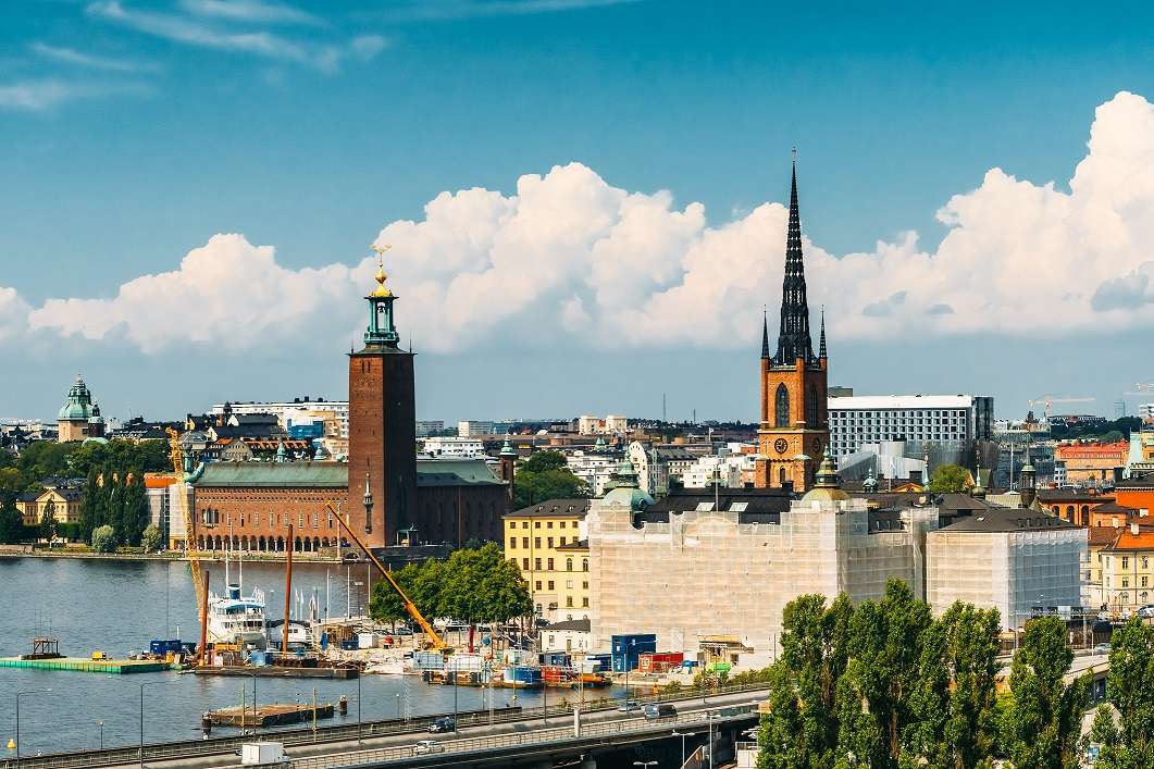 Stockholm, Sweden. Scenic View Of Old Town In Summer Season