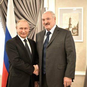 Belarus Lukashenko and Putin kwadrat