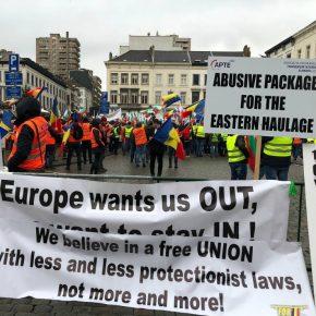 Bulgaria truckers protest 3 kwadrat