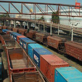 Cargo trains Ukraine kwadrat