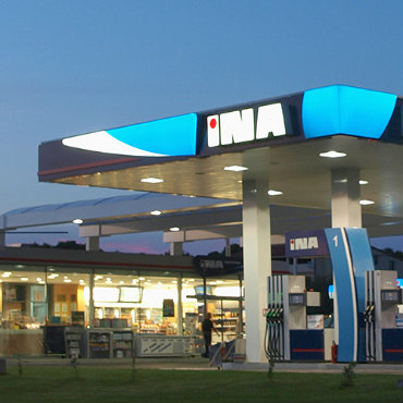 Croatia INA gas station 3 square